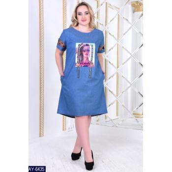 """Платье """"Джинсуля"""" бат"""
